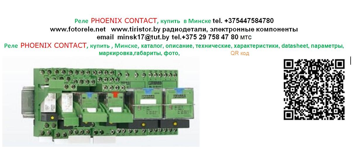 Реле, модуль, PHOENIX CONTACT, купить , Минске, каталог, описание, технические, характеристики, datasheet, параметры, маркировка,габариты, фото