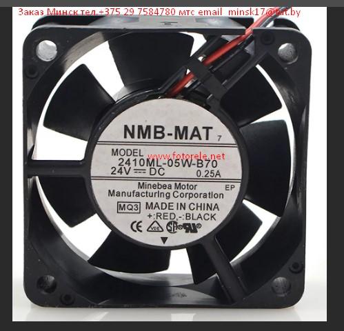 NMB 2410ML-05W-B70 24 В в 0.25A 60*60*25 мм 2 линии воздушный вентилятор охлаждения