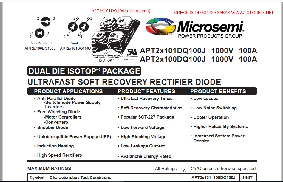 APT2X101DQ100J ( Microsemi )
