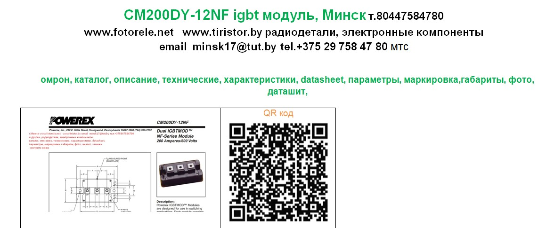 Powerex IGBT 200A 600V, CM200DY-12NF