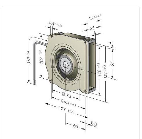 Вентилятор Ebmpapst RLF100-11/14 радиальный